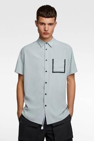 Koszula Zara Contrast Pocked