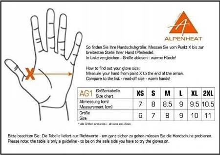 Rękawice Alpenheat Gloveliner AG1